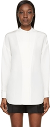 Alexander Wang Ivory White Silk Crepe Tunic Blouse