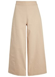 Finders Keepers Eames Sand Cropped Twill Trousers Beige