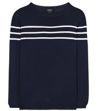 A.P.C. Joy Striped Sweater Blue