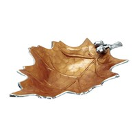 Julia Knight Oak Leaf Bowl Spice Orange