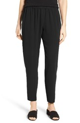 Eileen Fisher Women's Slouchy Silk Crepe Ankle Pants