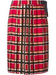Marc By Marc Jacobs 'Toto' Plaid Pattern Skirt Red