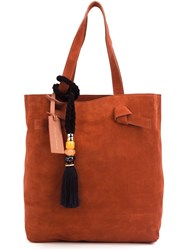 Lizzie Fortunato Jewels Tassel Detail Tote Bag Brown