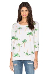 Chaser Palm Tree Breeze Long Sleeve Tee White