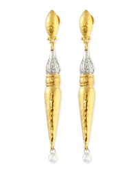 Gurhan Sultan Sleek 24K Gold And Diamond Earrings