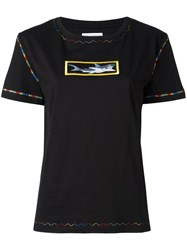 J.W.Anderson Shark Embroidery T Shirt Black