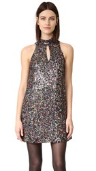 Cynthia Rowley Allover Sequin Mock Neck Shift Dress Multi