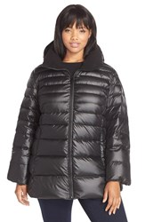 Plus Size Women's Marc New York 'Eva' Sweater Weight Down Jacket Black