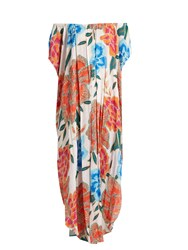 Mara Hoffman Arcadia Cover Up Maxi Dress White Multi