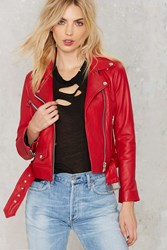 Nasty Gal Jackson Leather Moto Jacket