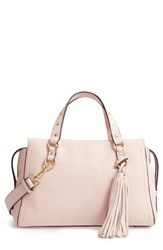 Cole Haan Cassidy Rfid Pebbled Leather Satchel Pink Peach Blush