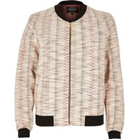 River Island Womens Cream Aztec Print Bomber Jacket