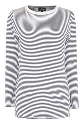 Topshop Maternity Breton Nibble T Shirt Navy Blue