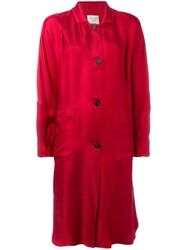 Forte Forte Panelled Sleeve Coat Women Polyamide Viscose 0 Red