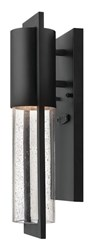 Hinkley Shelter Outdoor Wall Light 1326 Small 4.5 X 15.5 In Bk Black Incandescent Silver