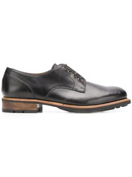 Paraboot Contrast Sole Oxford Shoes Black