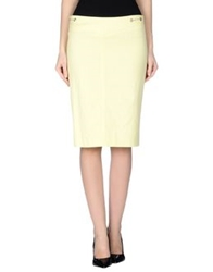 Mariella Rosati Knee Length Skirts Light Yellow