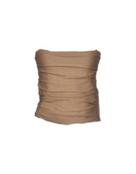Semi Couture Tube Tops Brown