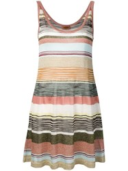 Missoni Striped Glitter Dress Brown