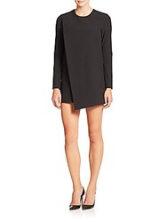 Mason By Michelle Mason Asymmetrical Shift Dress Black
