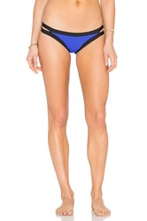 Seafolly Block Party Brazilian Pant Blue