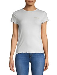 Lea And Viola Rouched Crewneck Tee White