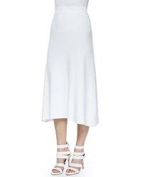 A.L.C. Cook Stretch A Line Midi Skirt White
