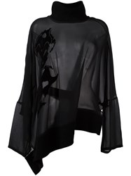 Ann Demeulemeester 'Georgia' Embroidered Blouse Black