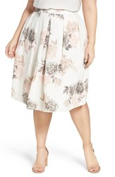 City Chic Plus Size Women's Floral Whimsy Pleat Skirt