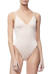 Good American Not So Basic Camisole Bodysuit Blush001