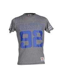 Franklin And Marshall Topwear T Shirts Men Grey