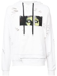 Haculla Destroy Popularity Hoodie White