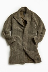 Urban Outfitters Uo Sherpa Long M 65 Coat Grey