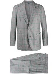 Tombolini Fitted Single Breasted Suit Grey