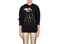 Off White C O Virgil Abloh Magic Hands Cotton Terry Hoodie Black