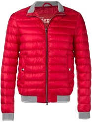 Herno Quilted High Neck Jacket Red