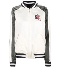 Opening Ceremony Gestures Reversible Silk Bomber Jacket White