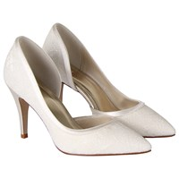 Rainbow Club Esme Lace Court Shoes Ivory