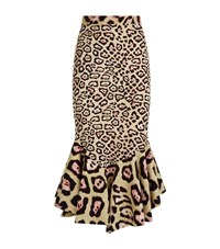 Givenchy Leopard Midi Skirt Female Pink