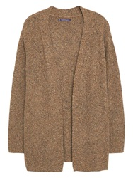 Violeta By Mango Wool Blend Cardigan Light Beige