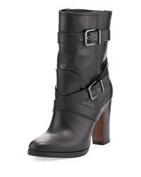 Pour La Victoire Roslin Buckled Leather Boot 36.5B 6.5B