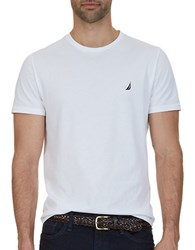 Nautica Big And Tall Cotton Logo Tee Bright White