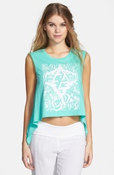 Volcom 'Name It' Graphic Tank Green Spray