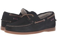 Sebago Dockside Shearling Black Suede Men's Shoes