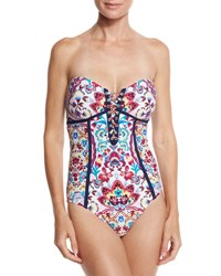 Nanette Lepore Festival Folkloric Seductress One Piece Swimsuit Multi
