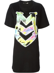 Love Moschino Logo Print T Shirt Dress