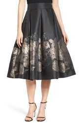 Eliza J Women's Pleated Mikado Midi Skirt