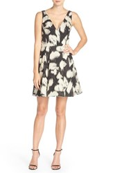 Vera Wang Women's Jacquard Fit And Flare Dress