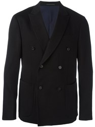 Z Zegna Patch Pockets Blazer Black