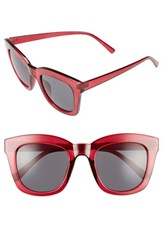 Women's Bp. 50Mm Mirror Square Sunglasses Burgundy